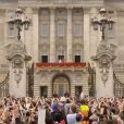 Kate Middleton et le prince William, jeunes mariés, au balcon de Buckingham Palace, à Londres, le 29 avril 2011.