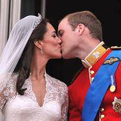 Mariage du prince William et de la princesse Catherine : Le baiser !