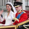 Kate Middleton et William lors de leur mariage le 29 avril