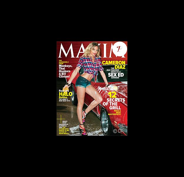 Cameron Diaz en couverture de Maxim.