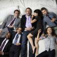 Hugh Laurie, Jesse Spencer, Lisa Edelstein,  Olivia Wilde et  Omar Epps dans  Dr. House .