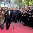 """""""Jean-Paul Belmondoet sa femme Barbara le 17 mai 2011. Il a été honoré à Cannes, 10 ans après sa dernière venue. Avec nos confrères de BFMTV"""""""