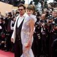 Johnny Depp et Penélope Cruz lors de la présentation de Pirates des Caraïbes 4 au festival de Cannes 2011