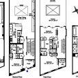 Le plan du superbe appartement à Tribaca au 151 Franklin Street à New York