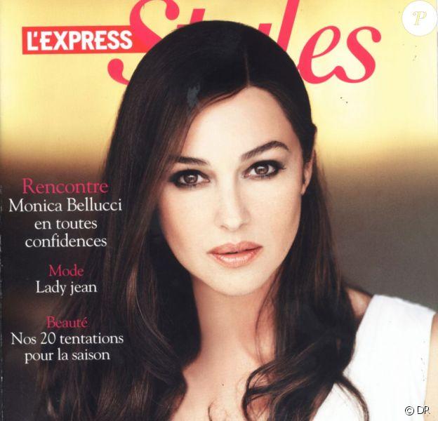 Monica Bellucci en couverture de L'Express Styles du 1er juin 2011