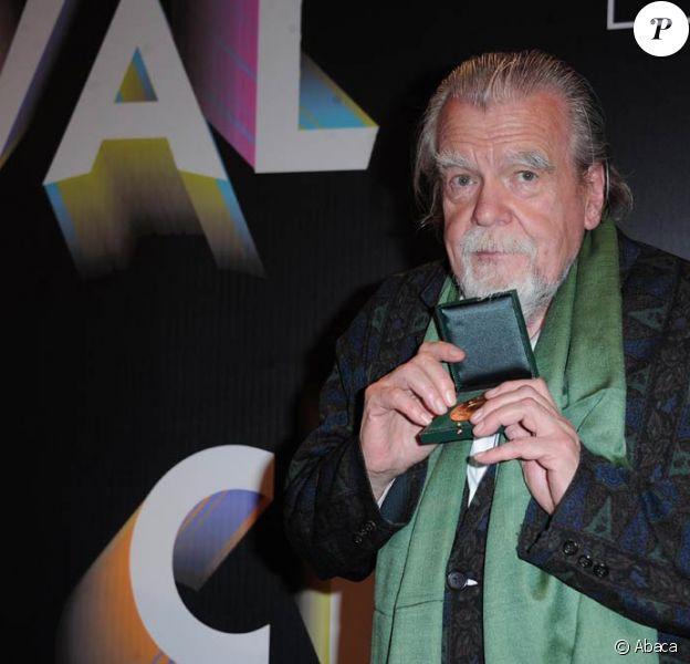 Michael Lonsdale honoré lors de la conférence de presse de la neuvième édition du Festival Paris Cinéma, à l'Hôtel de Ville de Paris, le 31 mai 2011.