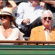 Jean-Loup Dabadie et son épouse Véronique au tournoi de Roland-Garros, le 2 juin 2011.