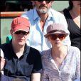 Sarah Forestier et un ami au tournoi de Roland-Garros, le 2 juin 2011.