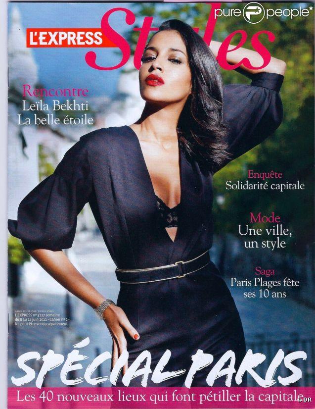 Leïla Bekhti en couverture de L'Express Styles