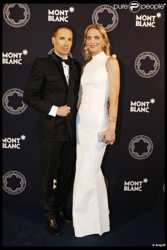 Sarah Marshall et Alexis lors de la vingtième édition du Prix Montblanc de la Culture, le 9 juin 2011.