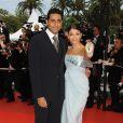 Aishwarya Rai et Abhishek Bachchan sur le tapis rouge de Cannes en mai 2009