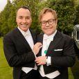 David Furnish et Elton John lors du 13e White Tie & Tiara Ball, en partenariat avec Chopard, au profit de la fondation Elton John Aids