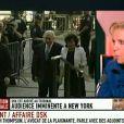 Dominique Strauss-Kahn arrive au tribunal de New York le 1er juillet 2011 avec sa femme Anne Sinclair.