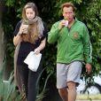 Arnold Schwarzenegger et sa fille Christina, à Los Angeles, le 31 mai 2011.