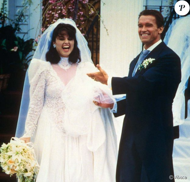 Mariage d'Arnold Schwarzenegger et Maria Shriver, le 26 avril 1986.