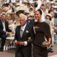 Giorgio et Roberta Armani arrive à la cérémonie religieuse du  mariage du prince Albert et de Charlene Wittstock, à Monaco, le 2  juillet 2011