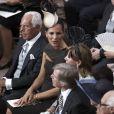 Giorgio Armani, qui a fait la robe de la mariée, attend le début de la cérémonie religieuse du mariage du prince Albert et de  Charlene Wittstock, à Monaco, le 2 juillet 2011