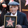 C'est un Dennis Hopper affaibli par la maladie qui se fait immortalisé sur le Walk Of Fame à Hollywood. Los Angeles, le 26 Mars 2010.
