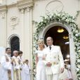 Albert et Charlene lors de leur mariage religieux le 2 juillet 2011 à Monaco