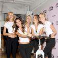 Alessandra Ambrosio, Candice Swanepoel, Erin Heatherton, Lindsay Ellingson et la jeune mariée Lily Aldridge, unies pour un événement caritatif à New York le 12 juillet 2011