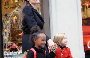 Angelina Jolie, maman bonheur avec ses deux princesses Zahara et Shiloh