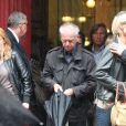 """Jacques """"Jacky"""" Jakubowicz lors des obsèques de Marc Rioufol à Paris, en l'église Saint-Leu Saint-Gilles, dans le 1er arrondissement, le 19 juillet 2011"""