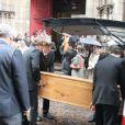 Les obsèques de Marc Rioufol à Paris, en l'église Saint-Leu Saint-Gilles, dans le 1er arrondissement, le 19 juillet 2011