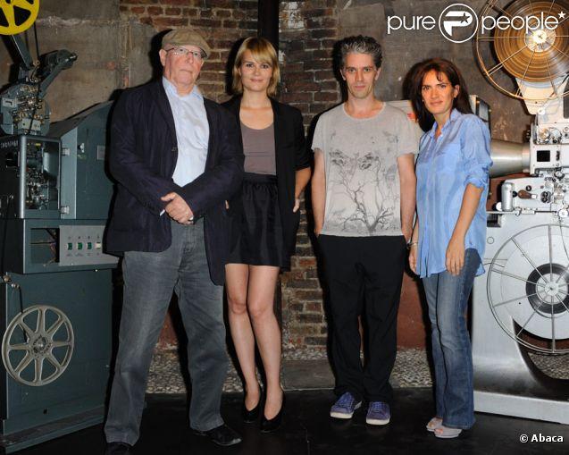 Claude Miller, Marina Hands, James Thierrée et Maya Sansa lors de la présentation du film Voyez comme ils dansent à Paris le 5 juillet 2011