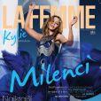 Kylie Minogue dans une spectaculaire robe signée Jean Paul Gaultier pour la couv' du magazine slovaque La Femme. Août 2010.
