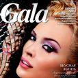 Le joli minois de Kylie Minogue en couverture du magazine  Gala Russia . Mai 2008.