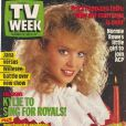 Kylie Minogue, en couverture du magazine australien  TV Week . La chanteuse en était alors au début de sa carrière. Décembre 1987.