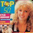 Kylie Minogue arborait une chevelure très dense sur cette couverture du magazine  TOP 50 . Octobre 1988.