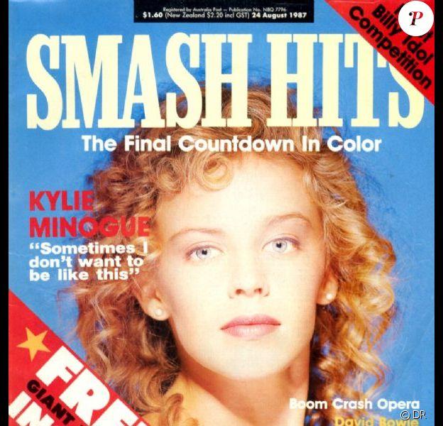 La rançon du succès ? Les couvertures de magazine. Voici Kylie Minogue en couv' de Smash Hits. Août 1987.