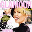 Kylie Minogue en couv' du Glamour espagnol de janvier 2008.