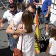 Le baiser intense de la belle Letizia et du marin de son coeur, le prince Felipe...   Absente la veille, la princesse Letizia d'Espagne était bien avec les royaux espagnols à Majorque le 2 août 2011, pour encourager comme il se doit, avec ses filles Leonor et Sofia, son mari et leur papa le prince Felip, compétiteur engagé dans la 30e Copa del Rey à bord de l'Hispano.