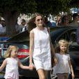 Absente la veille, la princesse Letizia d'Espagne était bien avec les royaux espagnols à Majorque le 2 août 2011, pour encourager comme il se doit, avec ses filles Leonor et Sofia, son mari et leur papa le prince Felip, compétiteur engagé dans la 30e Copa del Rey à bord de l'Hispano.