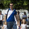 Letizia d'Espagne et ses filles Leonor et Sofia encourageaient leur homme, le prince Felipe, lors de la Copa del Rey à Majorque le 2 août 2011.