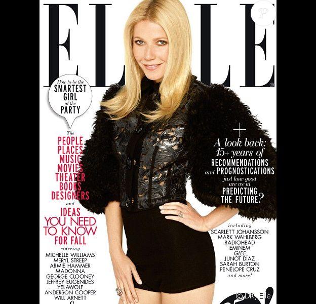 Gwyneth Paltrow en couverture de l'édition de septembre du Elle américain.