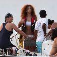 Rihanna en vacances à la Barbade le 4 août 2011