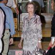 La reine Sofia d'Espagne au club nautique de Majorque. Le 4 août 2011