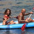 Christian Audigier en vacances à Ibiza le 6 août 2011 avec sa compagne Nathalie Sorensen