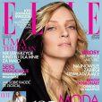 L'actrice Uma Thurman en couverture de Elle Poland. Octobre 2009.