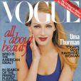 La couverture du Vogue de juin 1997 est réalisé par la naturellement belle Uma Thurman.