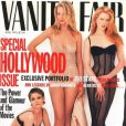 Jenifer Lason Leigh, Uma Thurman et Nicole Kidman font les grâces du Vanity Fair 'avril 1995.