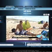 Alain Bernard en vacances : même pas peur des menaçantes ''méduses'' !