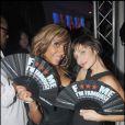 Cathy Guetta et Natalie Imbruglia à la soirée F*** Me I'm Famous, le 15/05/08