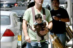 PHOTOS EXCLUSIVES : Chris Noth, Mister Big... daddy !