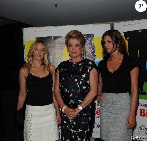 Ludivine Sagnier, Catherine Deneuve et Chiara Mastroianni à la première projection parisienne des Bien-aimés, de Christophe Honoré. 23 août 2011