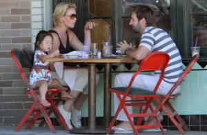 Katherine Heigl : Moment de tendresse en famille