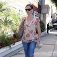 Jennifer Garner sort de chez le médecin après une visite de contrôle à Los Angeles, le 25 août 2011